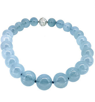 Arthur Marder Fine Jewelry Silver Aquamarine Necklace
