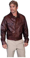 Scully Men's Leather Jean Jacket 107 - Chestnut Lamb Western Clothing
