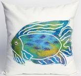 "Batik Fish 20"" Square Outdoor Pillow"