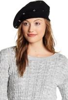 Natasha Accessories Grommet Detail Wool Blend Beret