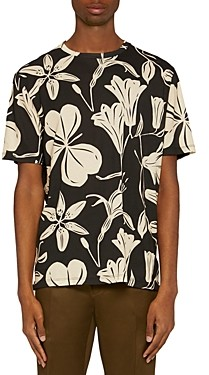 Paul Smith Cotton Floral Graphic Tee