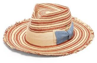Nick Fouquet Kaleidoscope Straw Hat - Beige Multi