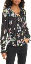 Ted Baker Axella Pergola Lace-Up Floral Blouse
