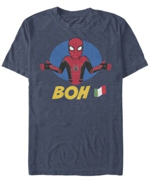 Marvel Men's Spider-Man Far From Home Boh Spidey Shrug, Short Sleeve T-shirt