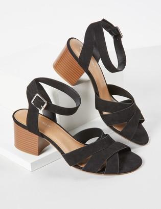 Lane Bryant Faux-Suede Block Heel Sandal