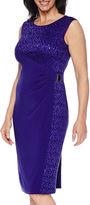 R & M Richards R&M Richards Sleeveless Lace Sheath Dress