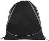 Fits Black & Charcoal Geometric Drawstring Bag
