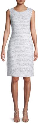 St. John Wool-Blend Woven Sheath Dress