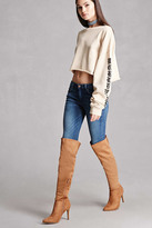 Forever 21 FOREVER 21+ Over-the-Knee Faux Suede Boots