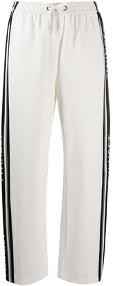 Twin-Set Logo Print Stripe Track Pants