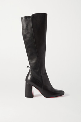 Christian Louboutin Kronobotte 85 Leather Knee Boots - Black