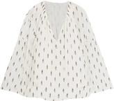 IRO Naomie fil coupé silk-blend georgette blouse