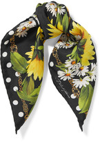Dolce & Gabbana Printed Silk-twill Scarf - one size
