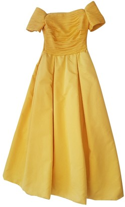 Rena Lange Yellow Silk Dress for Women Vintage