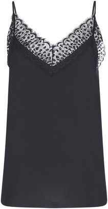 Givenchy Lace Detail V-Neck Top