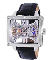 Adee Kaye Men's Edge 53mm Calfskin Band Steel Case Automatic Watch Ak2297-Msv