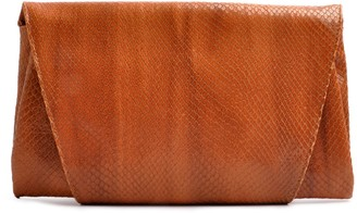Ostwald Finest Couture Bags Envelope Clutch Snake Cognac