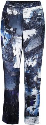 Märta Larsson Ripley Galena Abstract 100% Silk Pants