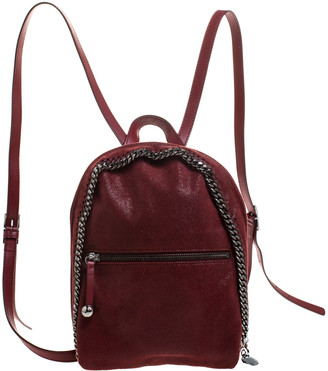 Stella McCartney Burgundy Faux Leather Falabella Backpack