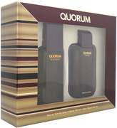 Antonio Puig Quorum for Men-2 Pc Gift Set 3.4-Ounce EDT Spray, 3.4-Ounce After Shave Lotion