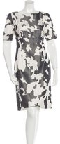 Narciso Rodriguez Silk Abstract Patterned Dress w/ Tags