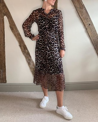 Lily & Lionel Talitha Leopard Dress - XS
