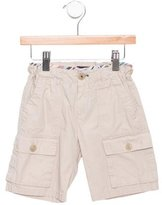 Paul Smith Boys' Plaid-Trimmed Cargo Shorts