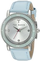 Ted Baker Women's TE2112 Smart Casual Three-Hand Light Blue Leather Watch