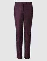 M&S Collection Cotton Rich Chino Straight Leg Trousers