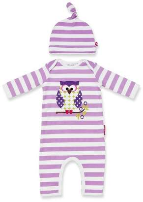 Olive&Moss Otto The Owl OWL-PS1 Onesie 0-6 Months Lilac/White