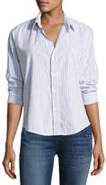 Frank And Eileen Barry Button-Front Striped Cotton Shirt