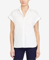 Lauren Ralph Lauren Rolled-Cuff Cotton Poplin Shirt