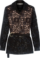 Alexis Tim belted guipure lace jacket
