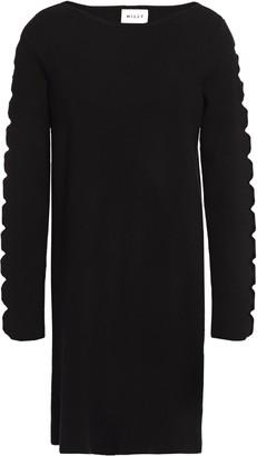 Milly Cutout Stretch-knit Mini Dress