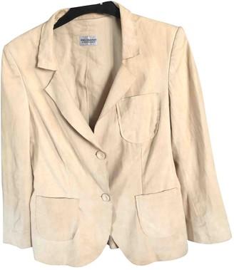 Philosophy di Alberta Ferretti Beige Leather Jackets