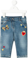 Dolce & Gabbana patched stretch jeans