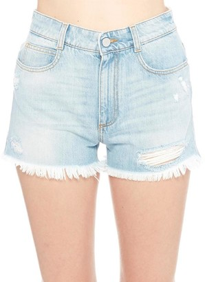 Stella McCartney Frayed Hem Shorts