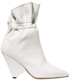 Isabel Marant Lileas Gathered Leather Ankle Boots