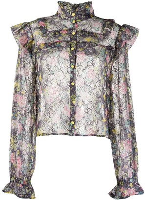Rotate by Birger Christensen Floral Lace Shirt
