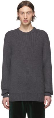 Ermenegildo Zegna Cobra S.C. Grey Wool Baruffa Heavyweight Sweater