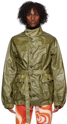 Dries Van Noten Khaki Belted Jacket