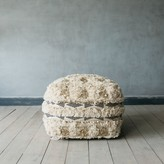 Graham and Green White And Gold Benazir Pouffe