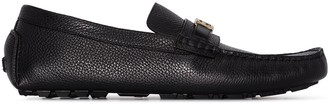 Fendi Baguette leather loafers