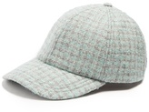 Larose Vintage tweed wool-blend baseball cap