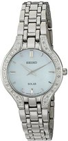 Seiko Women's Quartz Stainless Steel Casual Watch, Color:Silver-Toned (Model: SUP333)