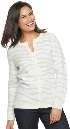 Croft & Barrow Women's Cozy Button-Front Cardigan