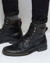 Bellfield Hyder Leather Laceup Boots