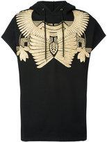 Les Hommes golden embroidery sleeveless hoodie - men - Cotton/Metallic Fibre - XS