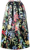 Rochas tropical floral print skirt