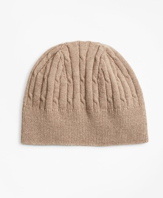 Brooks Brothers Cashmere Cable Knit Hat